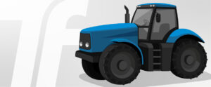 Vector image of a blue tractor